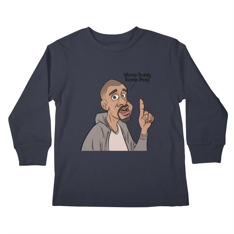 Whoop Diddy Scoop Poop Kids Longsleeve T-Shirt by Coconut Justice's Artist Shop