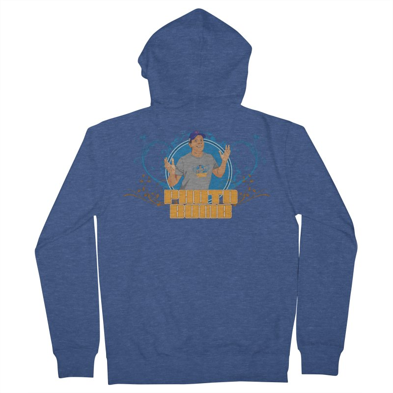 Carlos Photo Bomb Men's French Terry Zip-Up Hoody by Coconut Justice's Artist Shop