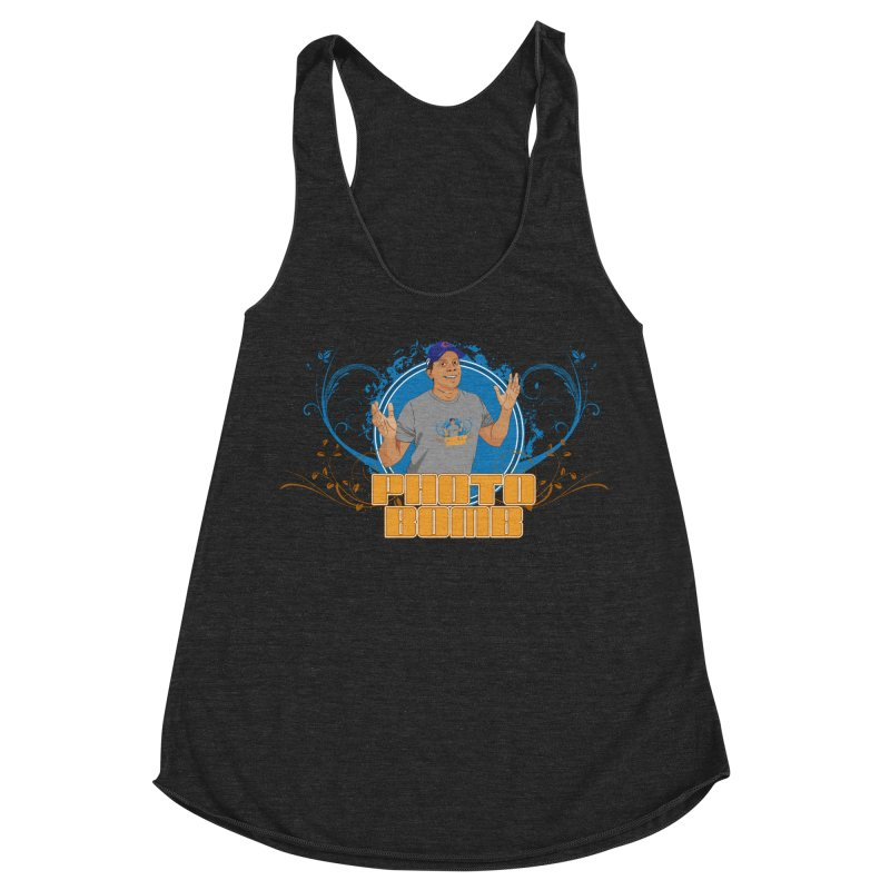 Carlos Photo Bomb Women's Racerback Triblend Tank by Coconut Justice's Artist Shop