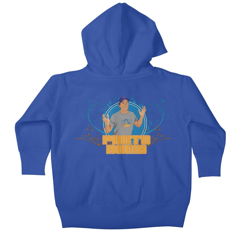 Carlos Photo Bomb Kids Baby Zip-Up Hoody by Coconut Justice's Artist Shop