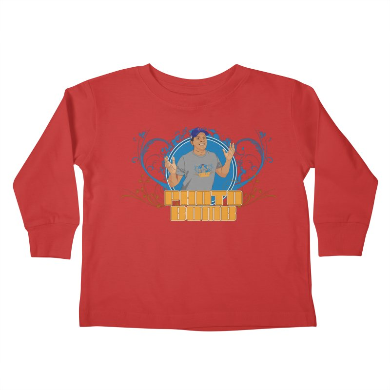 Carlos Photo Bomb Kids Toddler Longsleeve T-Shirt by Coconut Justice's Artist Shop