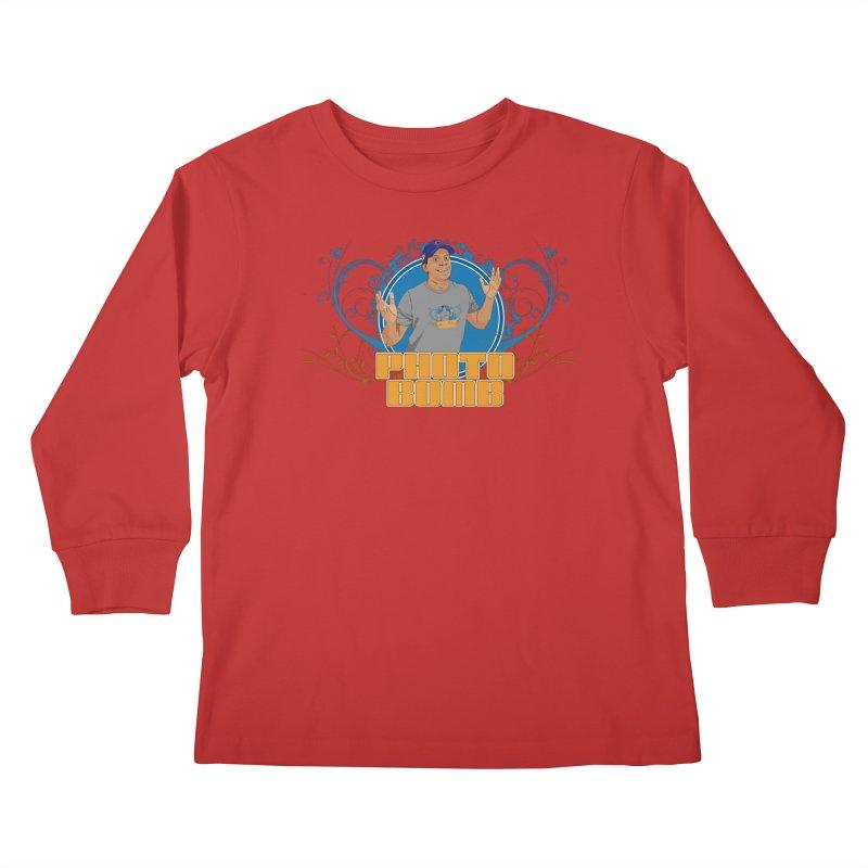 Carlos Photo Bomb Kids Longsleeve T-Shirt by Coconut Justice's Artist Shop