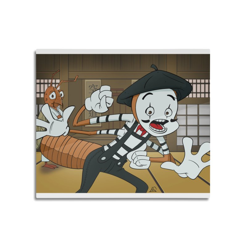 Fun Prompt: Termite Performing in a Dojo Home Mounted Aluminum Print by Coconut Justice's Artist Shop