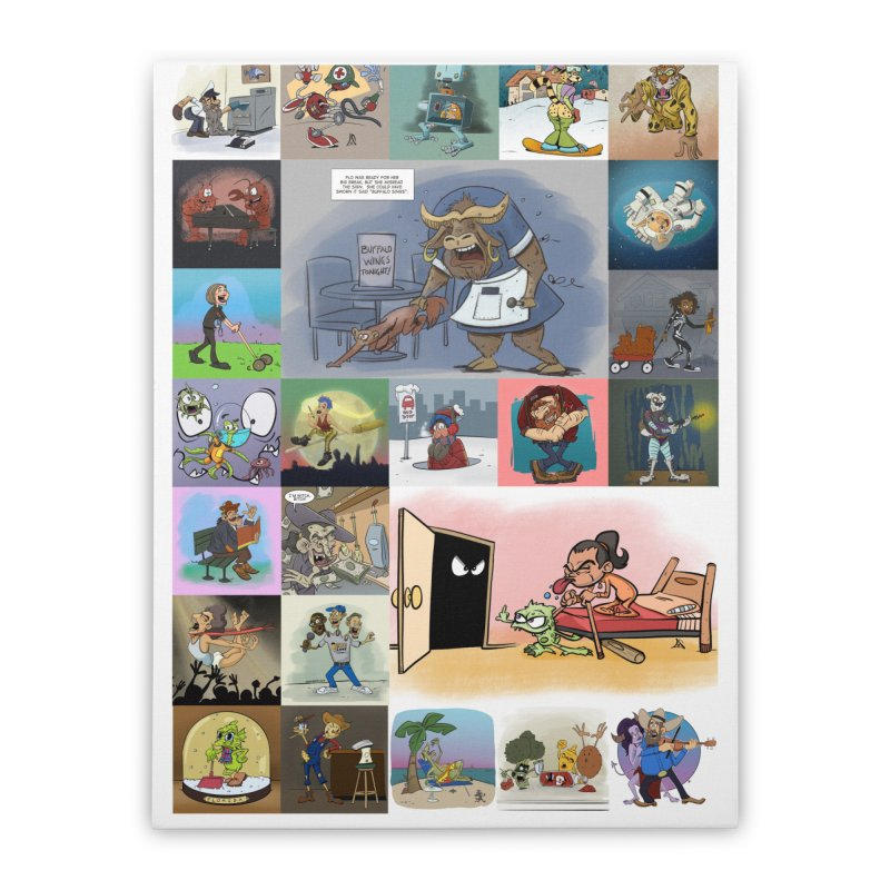 Sketch Zone Fun Prompt Collage Home Stretched Canvas by Coconut Justice's Artist Shop