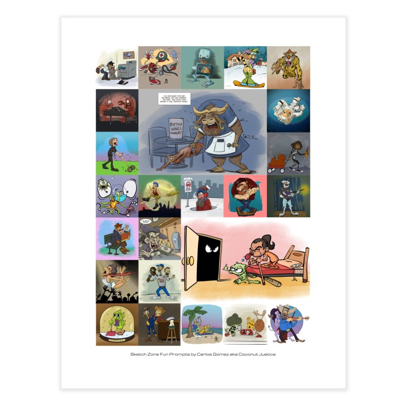 Sketch Zone Fun Prompt Collage Home Fine Art Print by Coconut Justice's Artist Shop
