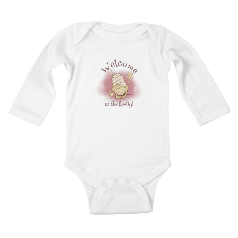 Welcome To The Family - Pink Kids Baby Longsleeve Bodysuit by Coconut Justice's Artist Shop