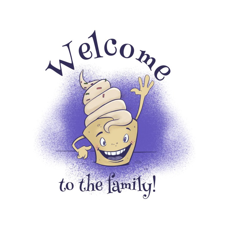 Welcome To The Family - Blue by Coconut Justice's Artist Shop