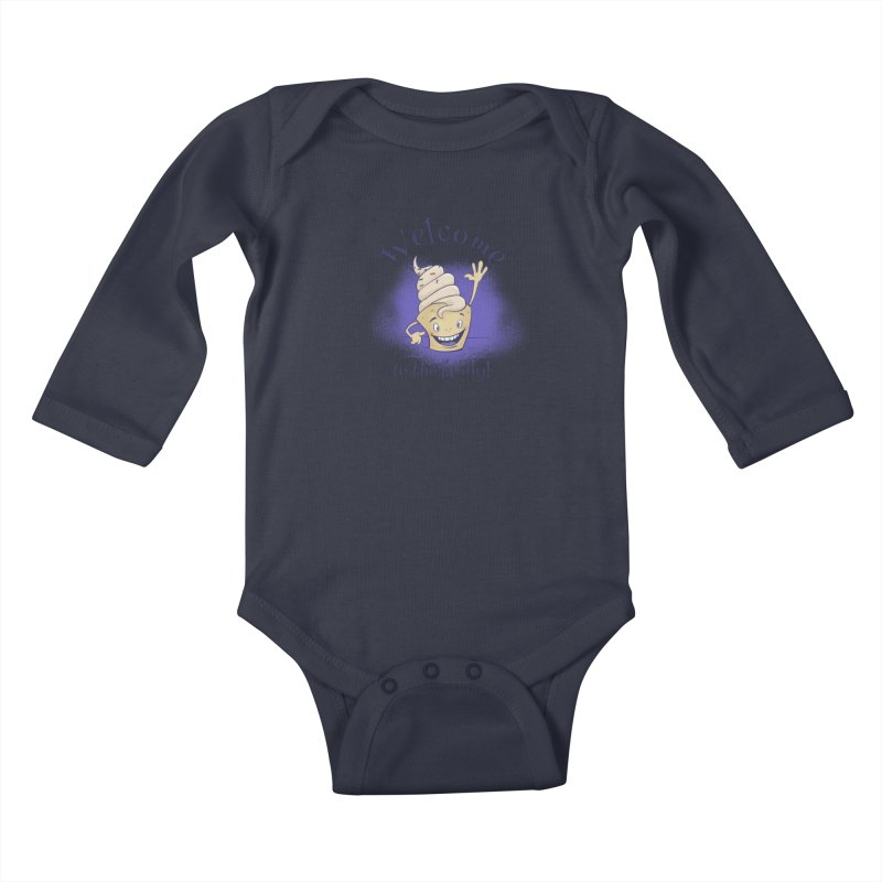 Welcome To The Family - Blue Kids Baby Longsleeve Bodysuit by Coconut Justice's Artist Shop