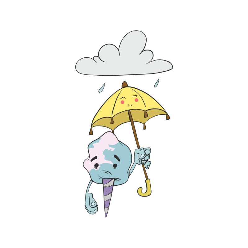 Rainy Day Cotton Candy Women's T-Shirt by Coconut Justice's Artist Shop