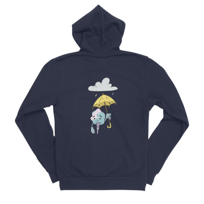 Rainy Day Cotton Candy Women's Sponge Fleece Zip-Up Hoody by Coconut Justice's Artist Shop