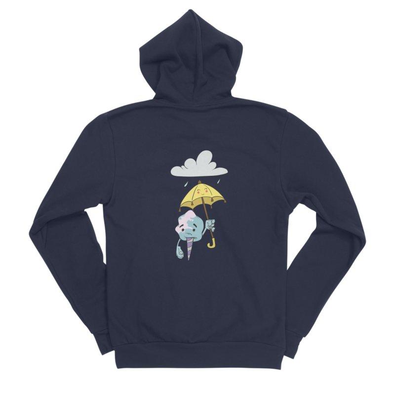 Rainy Day Cotton Candy Men's Sponge Fleece Zip-Up Hoody by Coconut Justice's Artist Shop
