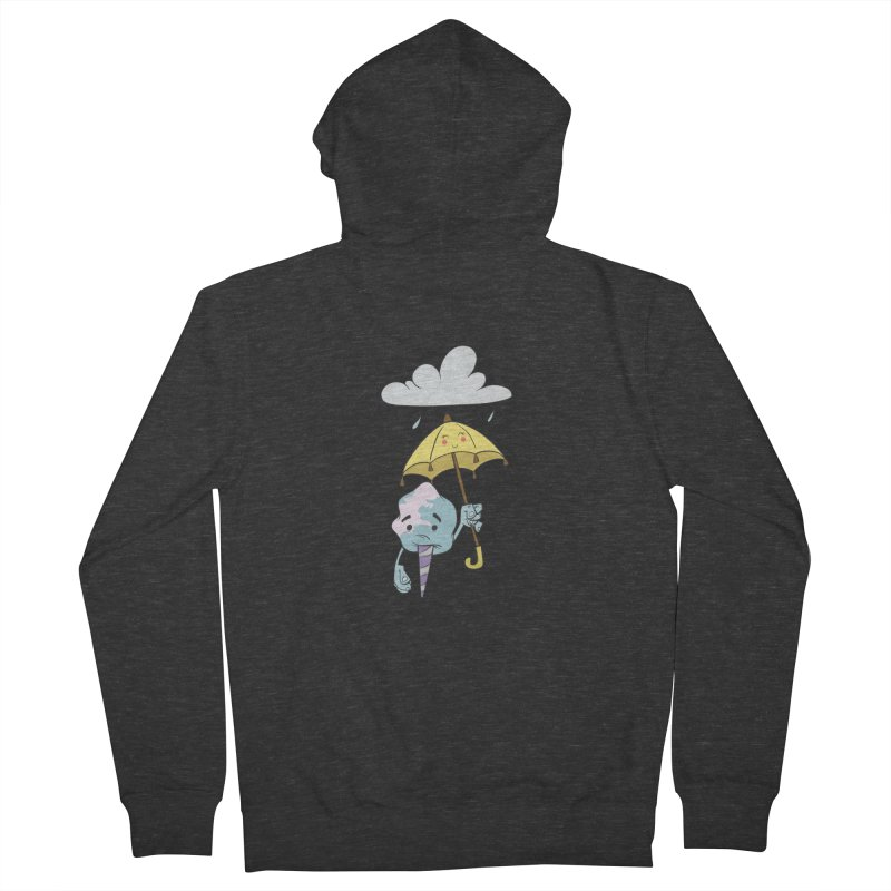 Rainy Day Cotton Candy Women's French Terry Zip-Up Hoody by Coconut Justice's Artist Shop