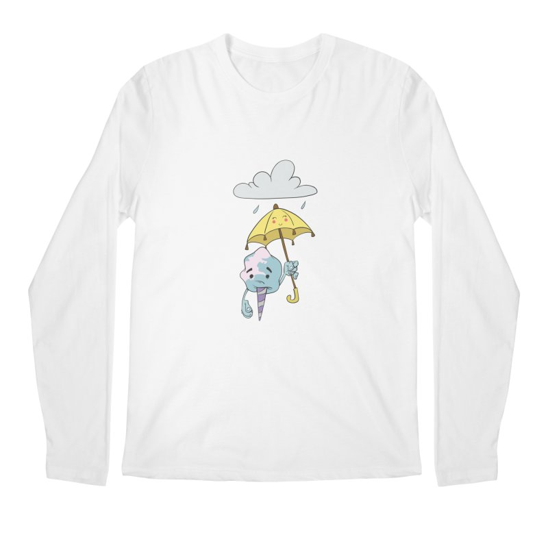 Rainy Day Cotton Candy Men's Regular Longsleeve T-Shirt by Coconut Justice's Artist Shop