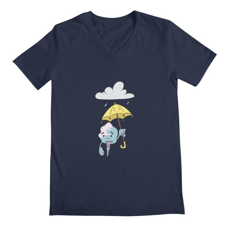 Rainy Day Cotton Candy Men's Regular V-Neck by Coconut Justice's Artist Shop