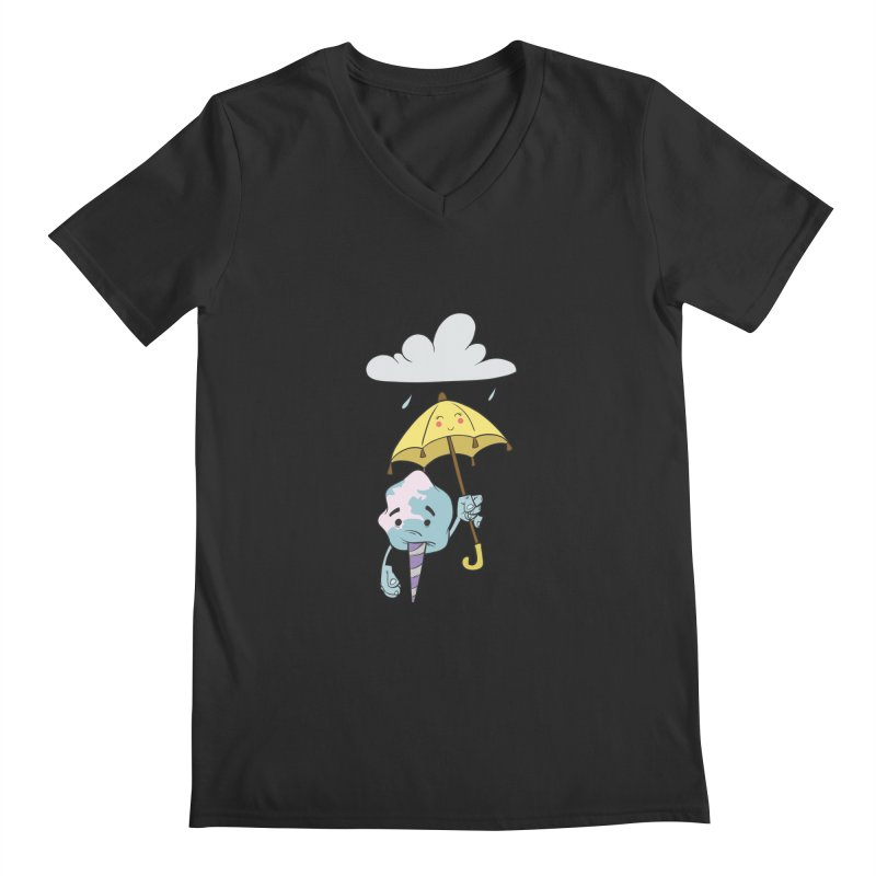 Rainy Day Cotton Candy Men's Regular V-Neck by Coconut Justice's Artist Shop