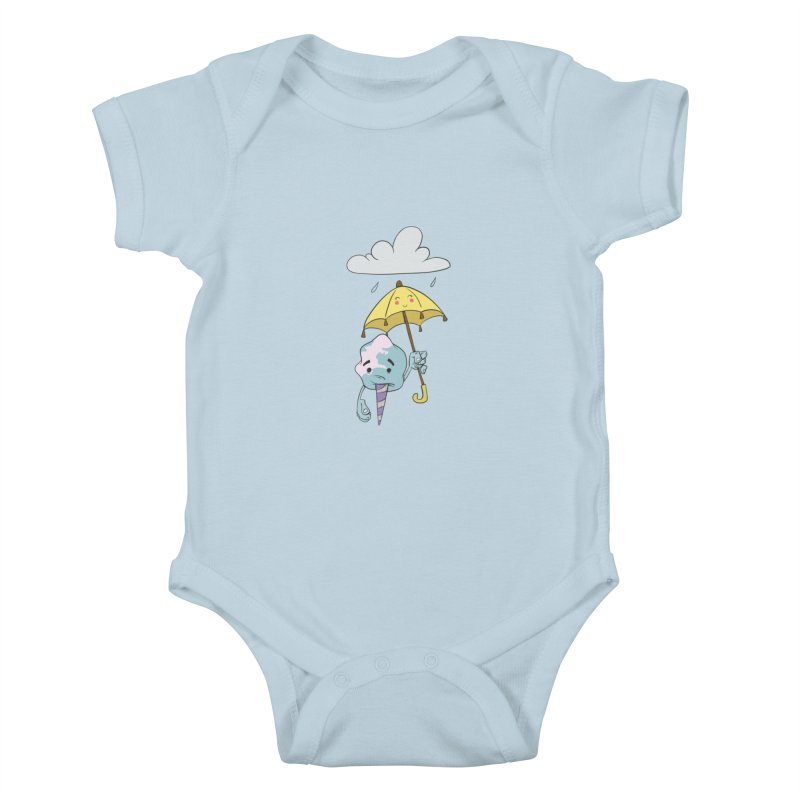 Rainy Day Cotton Candy Kids Baby Bodysuit by Coconut Justice's Artist Shop