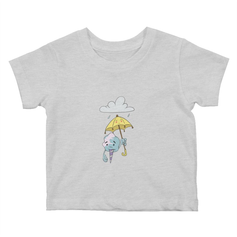 Rainy Day Cotton Candy Kids Baby T-Shirt by Coconut Justice's Artist Shop