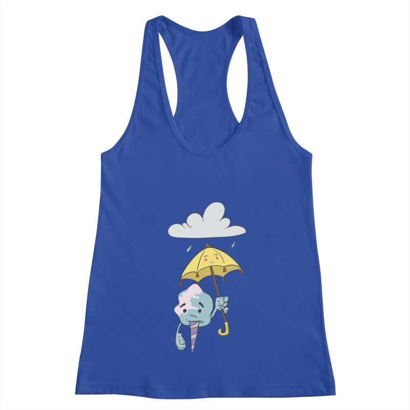 Rainy Day Cotton Candy Women's Racerback Tank by Coconut Justice's Artist Shop