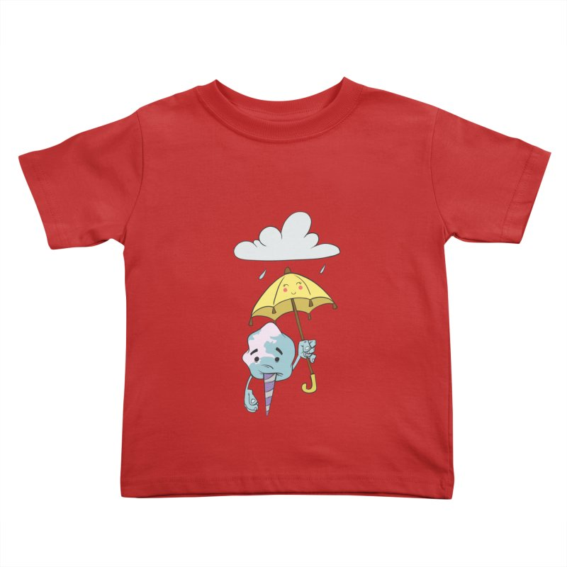 Rainy Day Cotton Candy Kids Toddler T-Shirt by Coconut Justice's Artist Shop