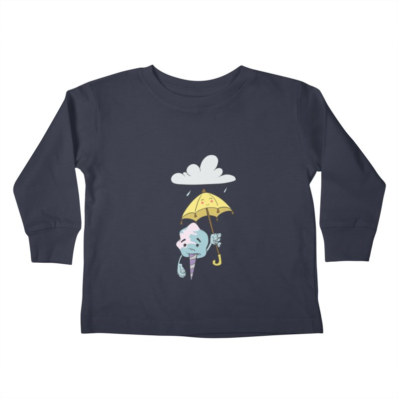Rainy Day Cotton Candy Kids Toddler Longsleeve T-Shirt by Coconut Justice's Artist Shop
