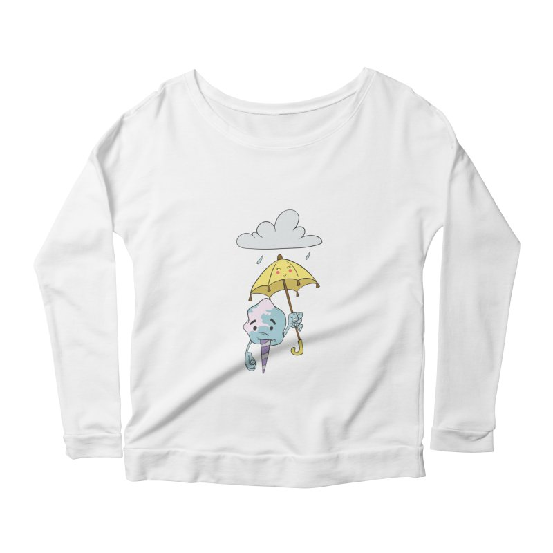 Rainy Day Cotton Candy Women's Scoop Neck Longsleeve T-Shirt by Coconut Justice's Artist Shop
