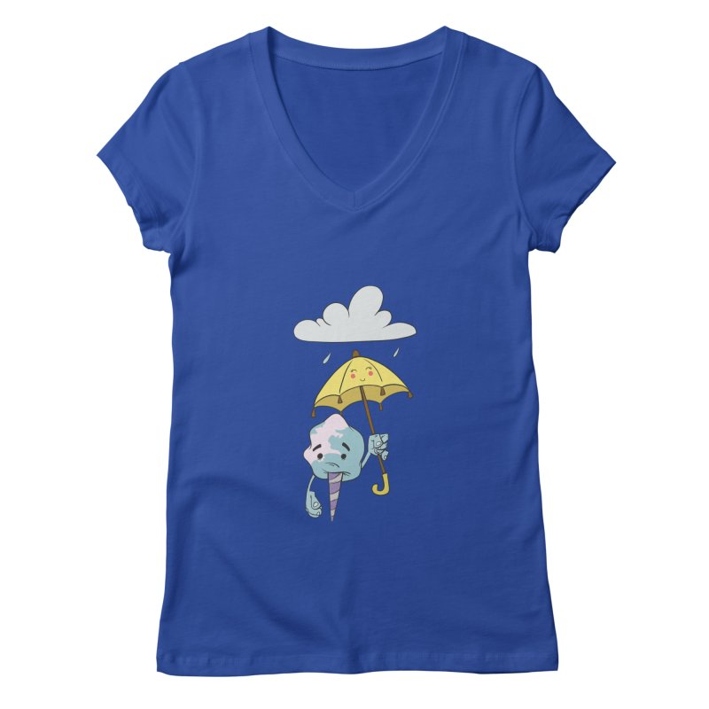 Rainy Day Cotton Candy Women's V-Neck by Coconut Justice's Artist Shop