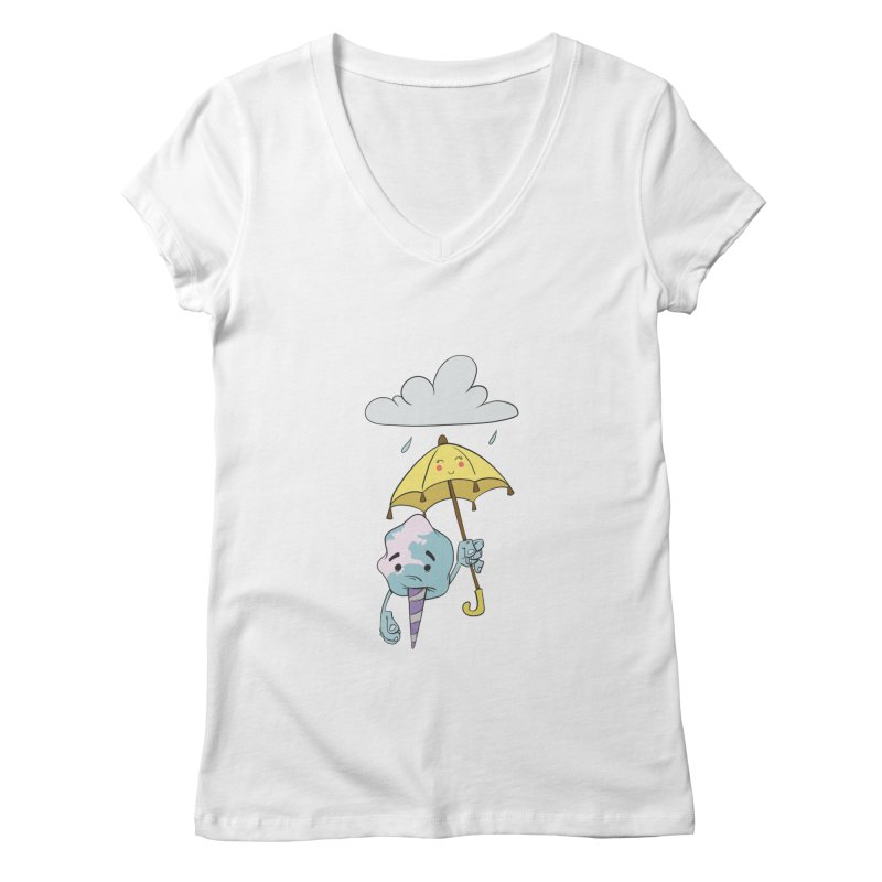 Rainy Day Cotton Candy Women's Regular V-Neck by Coconut Justice's Artist Shop