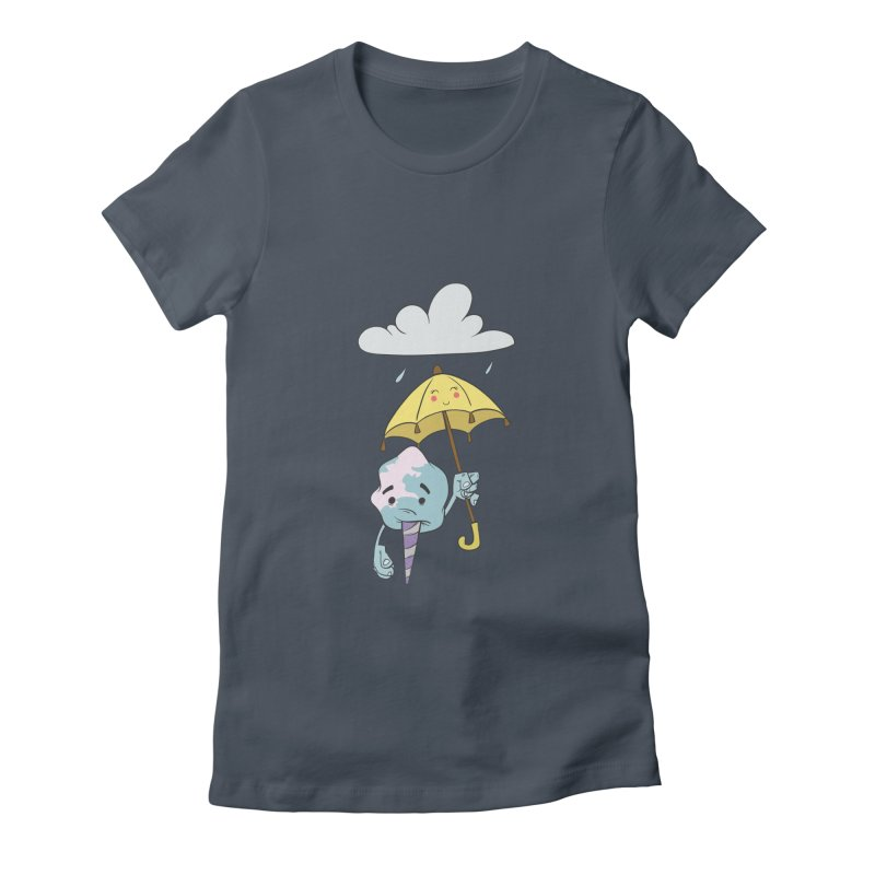 Rainy Day Cotton Candy Women's Fitted T-Shirt by Coconut Justice's Artist Shop