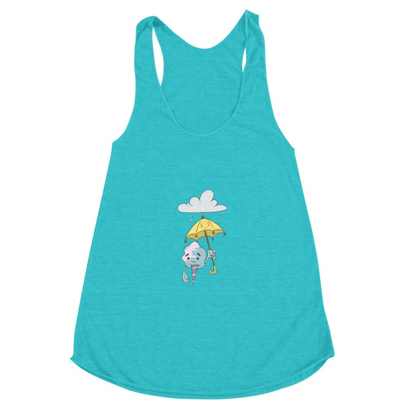Rainy Day Cotton Candy Women's Racerback Triblend Tank by Coconut Justice's Artist Shop