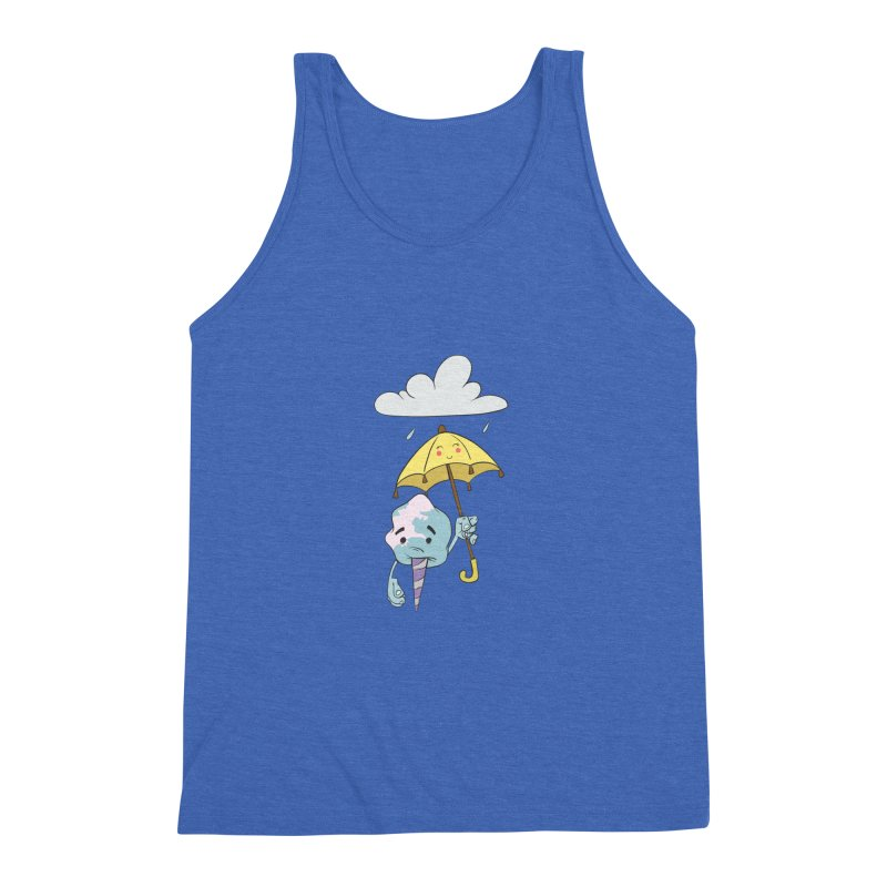 Rainy Day Cotton Candy Men's Triblend Tank by Coconut Justice's Artist Shop