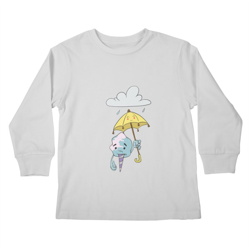 Rainy Day Cotton Candy Kids Longsleeve T-Shirt by Coconut Justice's Artist Shop
