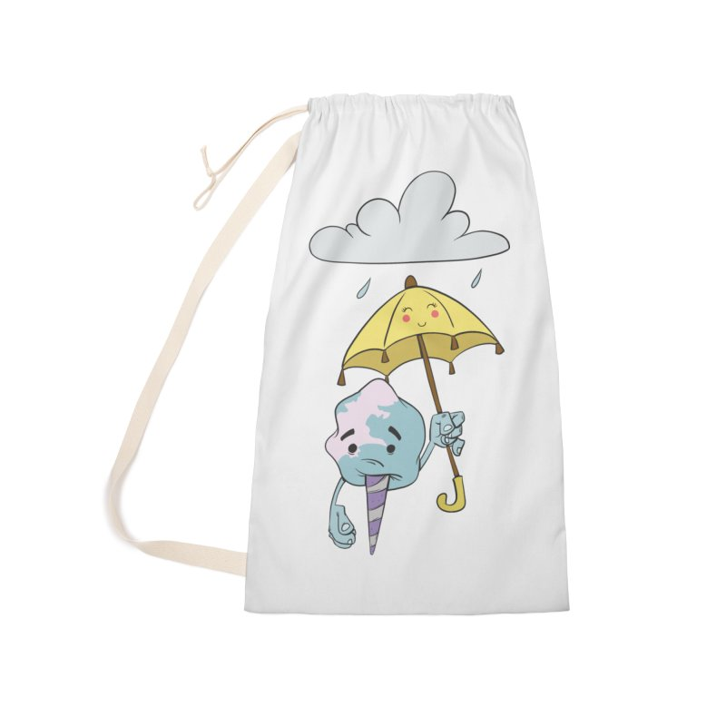 Rainy Day Cotton Candy Accessories Laundry Bag Bag by Coconut Justice's Artist Shop