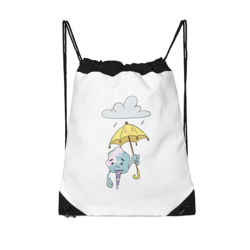Rainy Day Cotton Candy Accessories Drawstring Bag Bag by Coconut Justice's Artist Shop