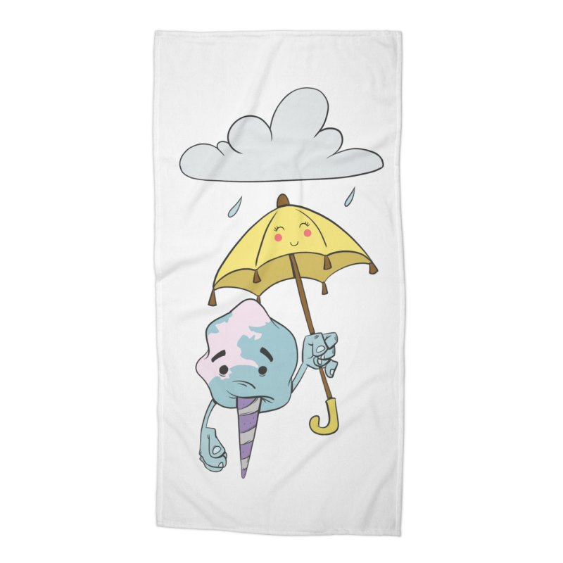 Rainy Day Cotton Candy Accessories Beach Towel by Coconut Justice's Artist Shop