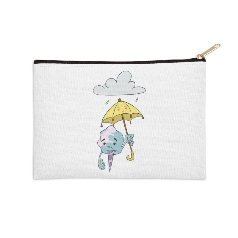 Rainy Day Cotton Candy Accessories Zip Pouch by Coconut Justice's Artist Shop