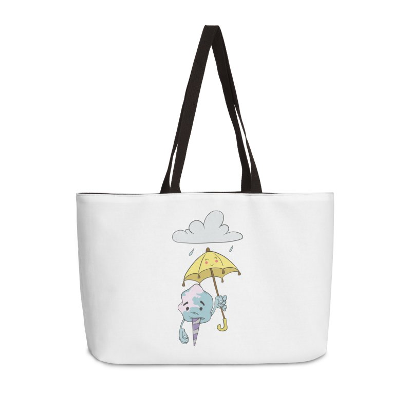 Rainy Day Cotton Candy Accessories Weekender Bag Bag by Coconut Justice's Artist Shop