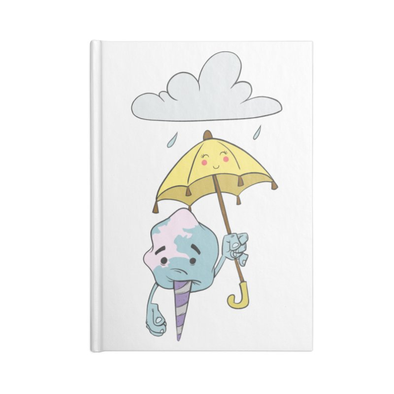 Rainy Day Cotton Candy Accessories Notebook by Coconut Justice's Artist Shop