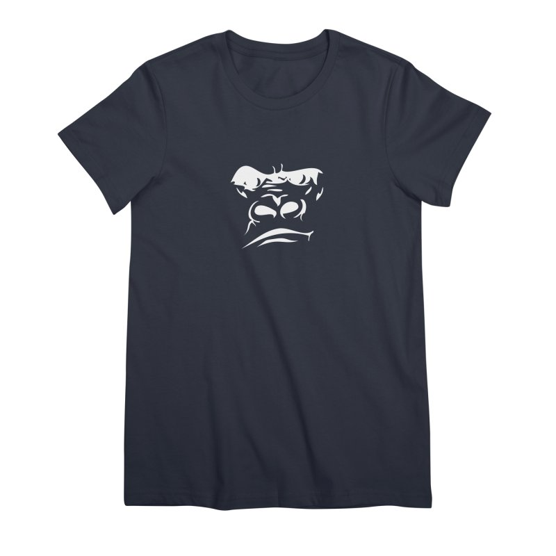 Gorilla Face Women's Premium T-Shirt by Coconut Justice's Artist Shop