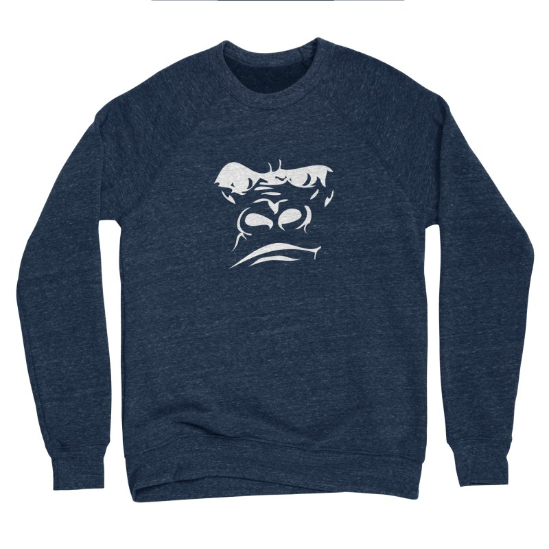 Gorilla Face Women's Sponge Fleece Sweatshirt by Coconut Justice's Artist Shop