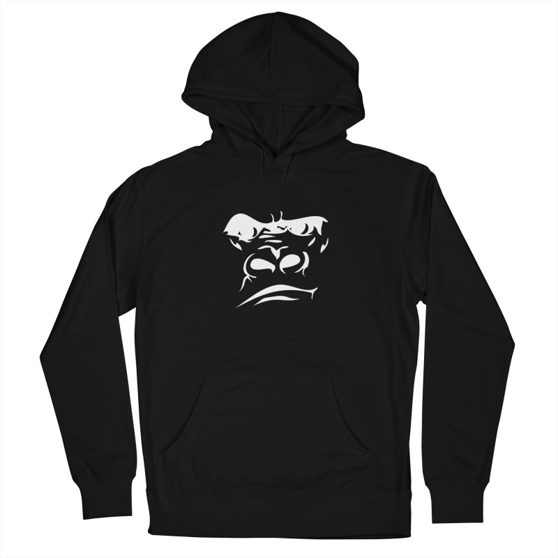 Gorilla Face Women's French Terry Pullover Hoody by Coconut Justice's Artist Shop
