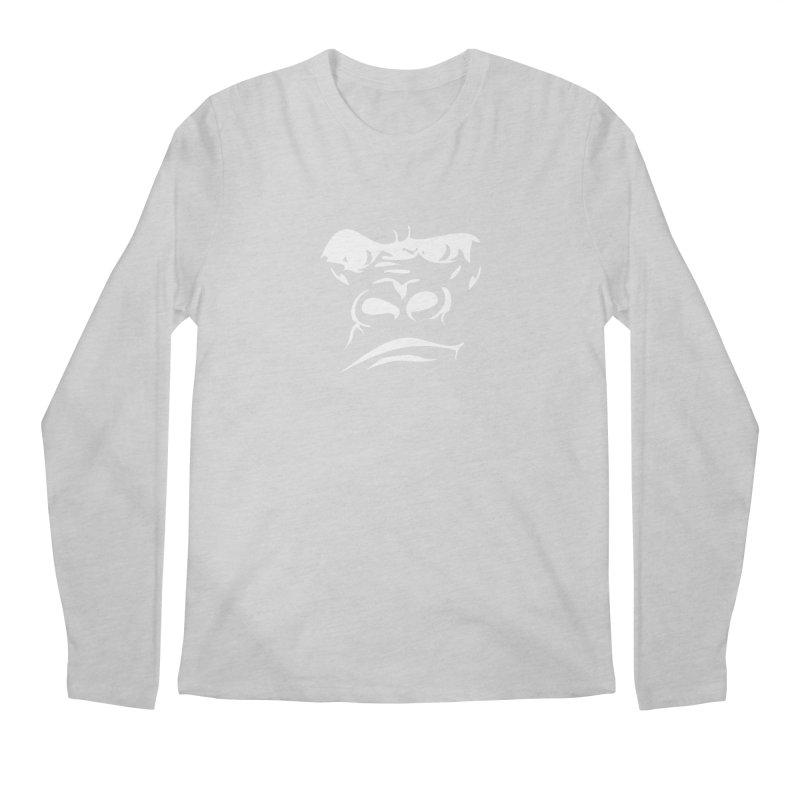 Gorilla Face Men's Regular Longsleeve T-Shirt by Coconut Justice's Artist Shop
