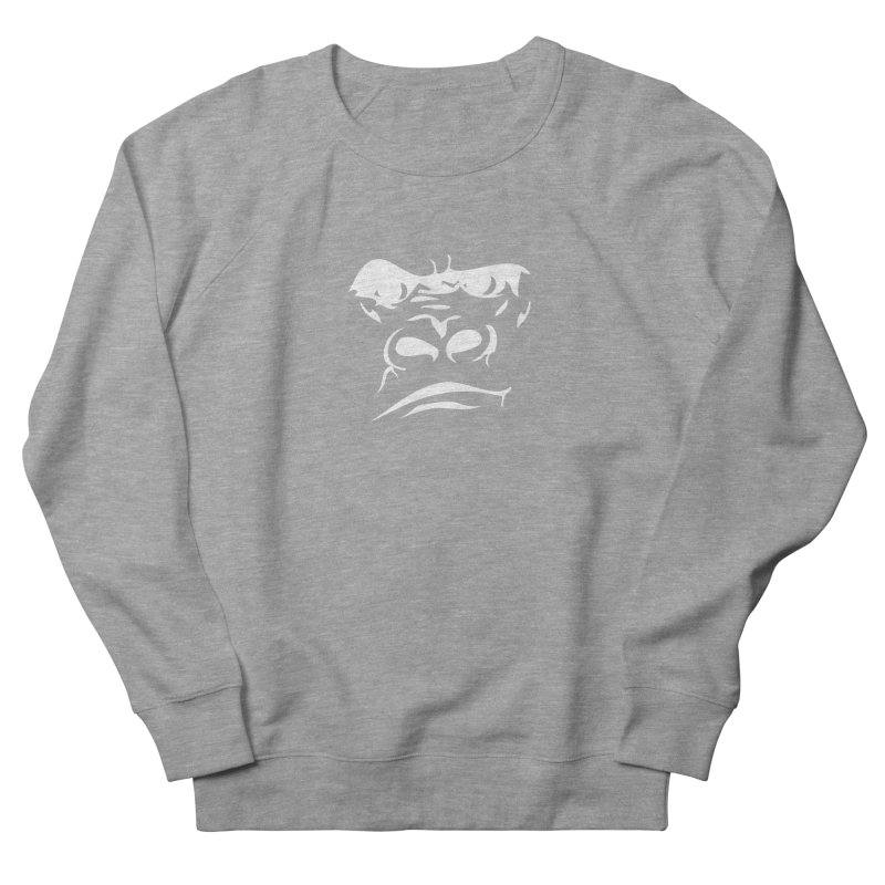 Gorilla Face Men's French Terry Sweatshirt by Coconut Justice's Artist Shop