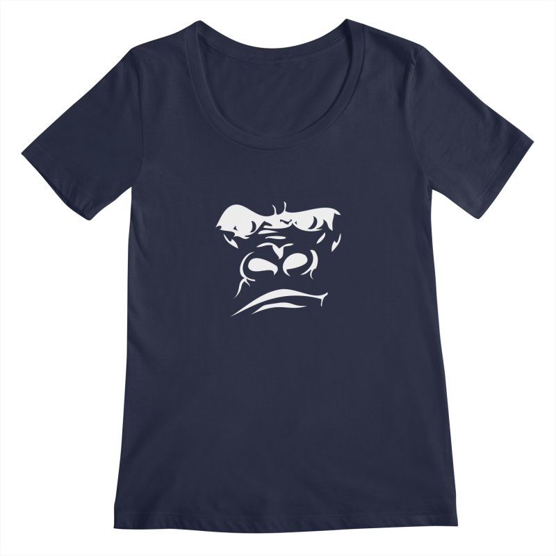 Gorilla Face Women's Regular Scoop Neck by Coconut Justice's Artist Shop