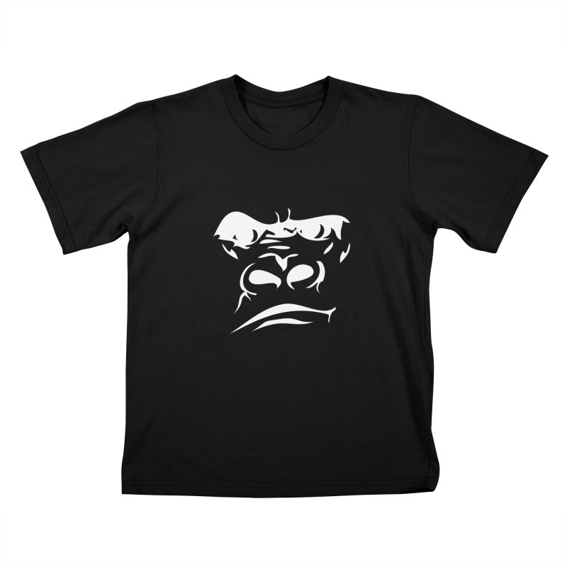 Gorilla Face Kids T-Shirt by Coconut Justice's Artist Shop