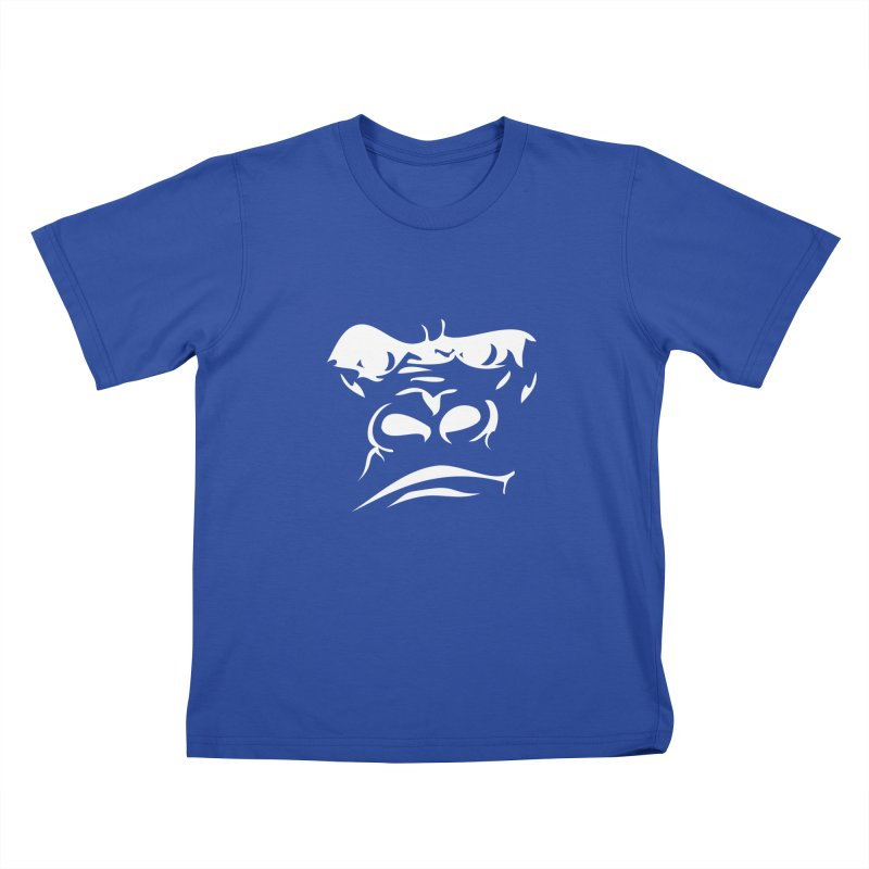 Gorilla Face Kids T-Shirt by Coconut Justice's Artist Shop