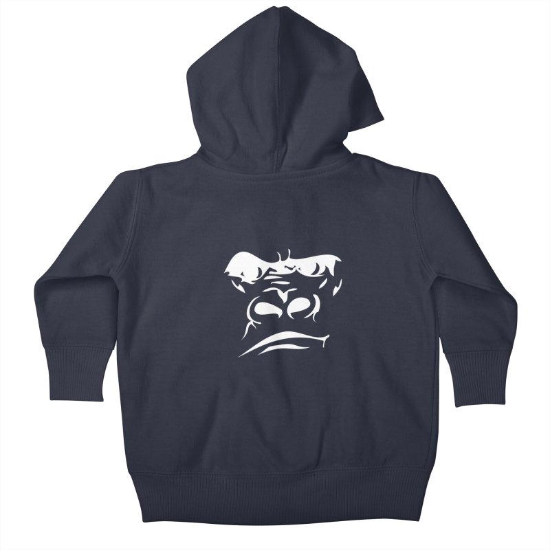 Gorilla Face Kids Baby Zip-Up Hoody by Coconut Justice's Artist Shop