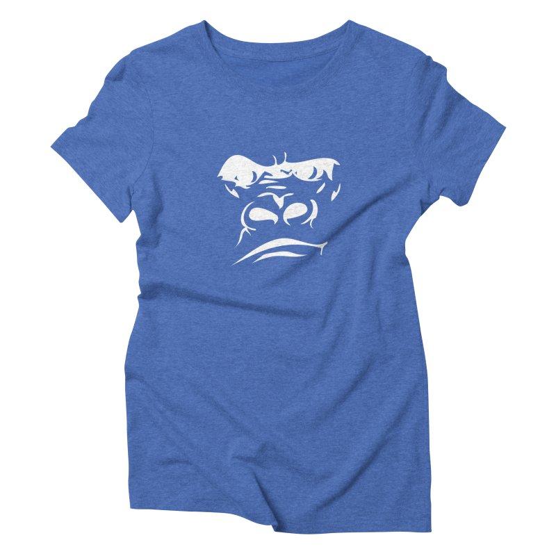Gorilla Face Women's Triblend T-Shirt by Coconut Justice's Artist Shop