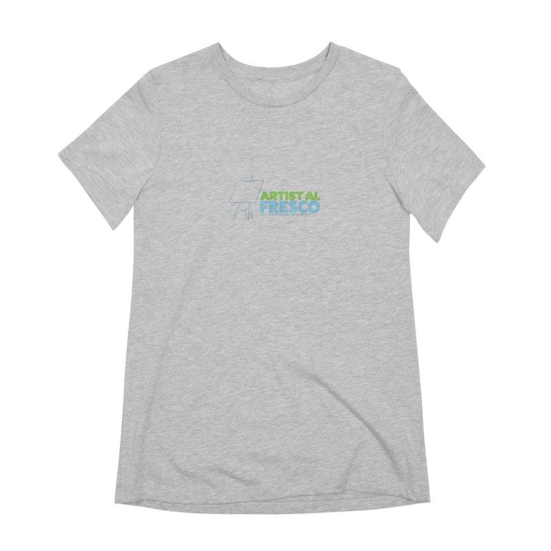 Artist Al Fresco Logo Women's Extra Soft T-Shirt by Coconut Justice's Artist Shop