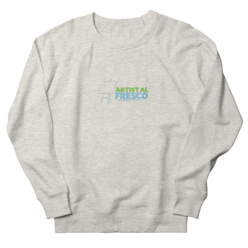 Artist Al Fresco Logo Women's French Terry Sweatshirt by Coconut Justice's Artist Shop