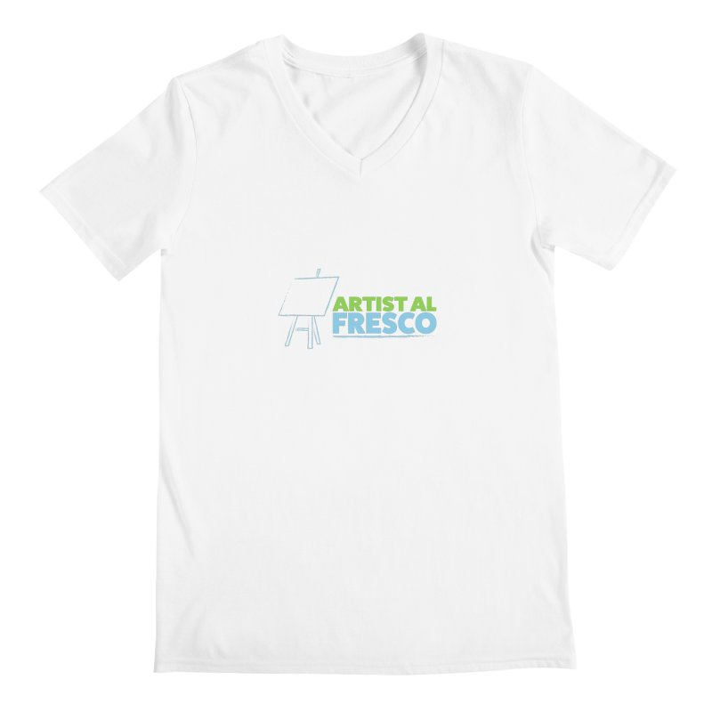 Artist Al Fresco Logo Men's V-Neck by Coconut Justice's Artist Shop